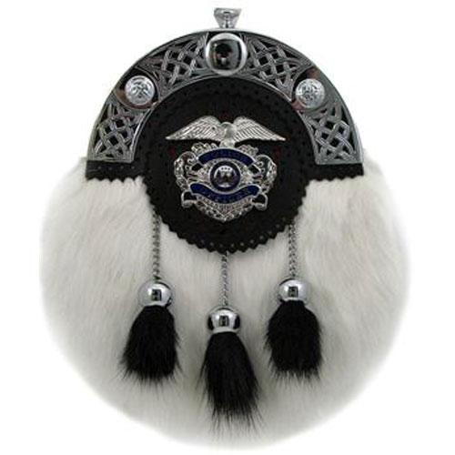 Police-Dress-Sporran White Calf-MSP4000