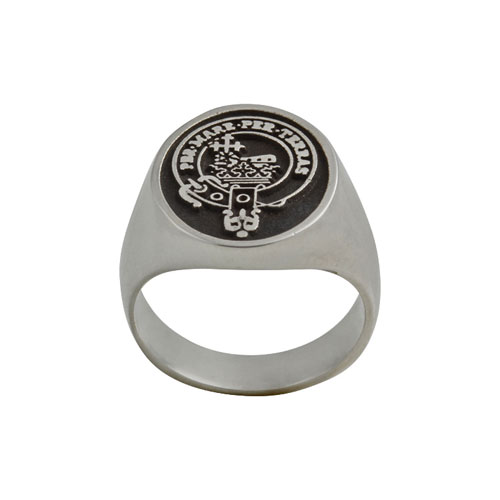 Clan Crested Ring Large Sterling Silver CLANPI600