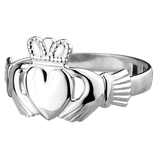 Gents Standard Claddagh Ring Sterling Silver S2218