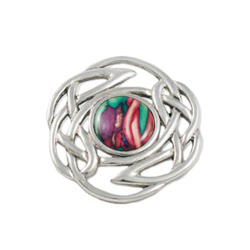 Celtic Knot Brooch with Heathergem Pewter HB58