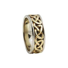 Heart Celtic Knot Ring Large 14kt Gold KELKAR03L