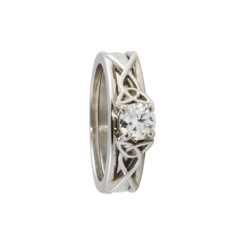 Trinity Knot Engagement Ring With Insert Wedding Band 14kt Gold