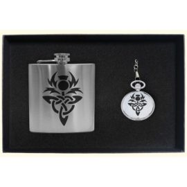 clan-crest-hip-flask-pocket-watch-gift-set-pewter