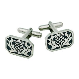 Thistle Cufflinks Pewter KCL1
