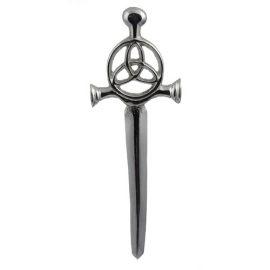 Trinity Knot Kilt Pin Polished Pewter KPTN