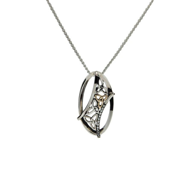 Celtic trinity knot pendant with white topaz sterling silver 10kt celtic trinity knot pendant with white topaz sterling silver 10kt gold aloadofball Gallery