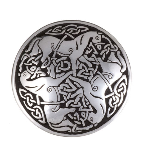 Inverurie Horses Brooch Pewter