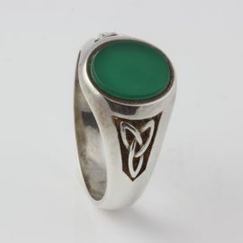 Signet Ring Trinity Knot Sterling Silver