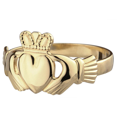 Gents-Claddagh-Ring-10kt-Yellow-Gold-S2529