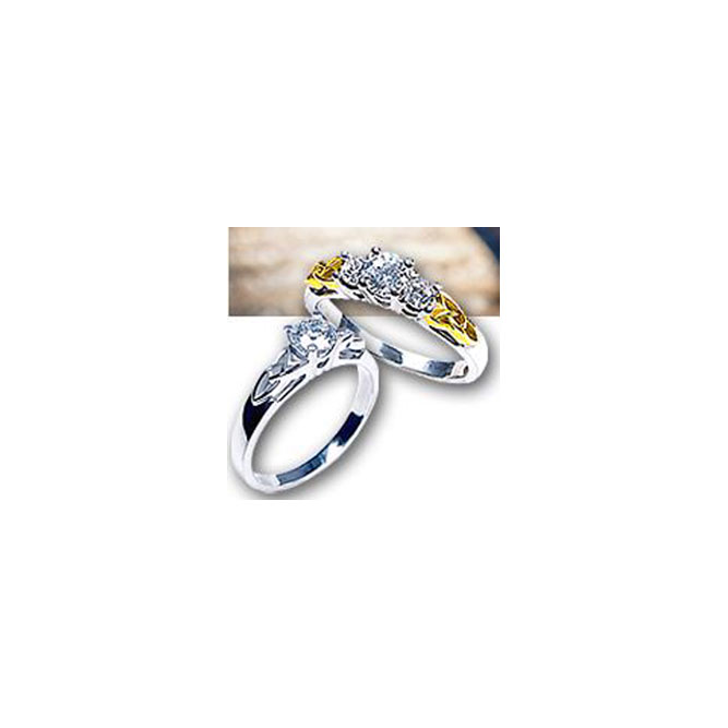 3 Diamond Trinity Knot Ring 14kt Gold