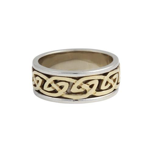 Blair Celtic Knot Ring Flat KELKAR07