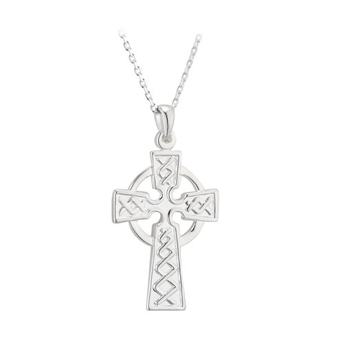Double Sided Celtic Cross Small Sterling Silver S4940