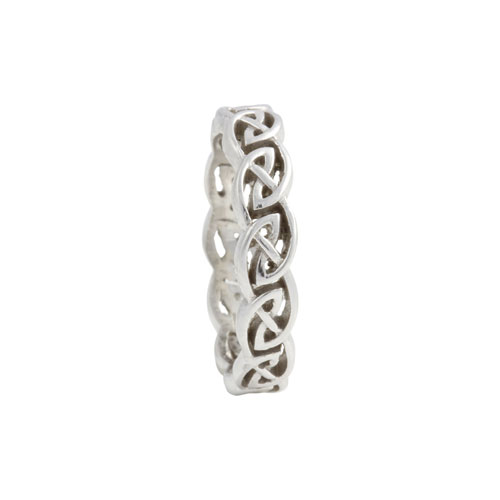 Eternity Knot Ring Open Weave 14kt Gold