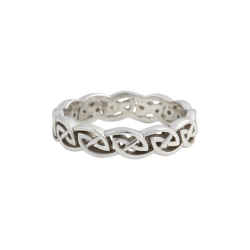 Eternity Knot Ring Open Weave Flat 14kt Gold