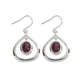 Heathergem Open Tear Drop Dangle Earrings HE41