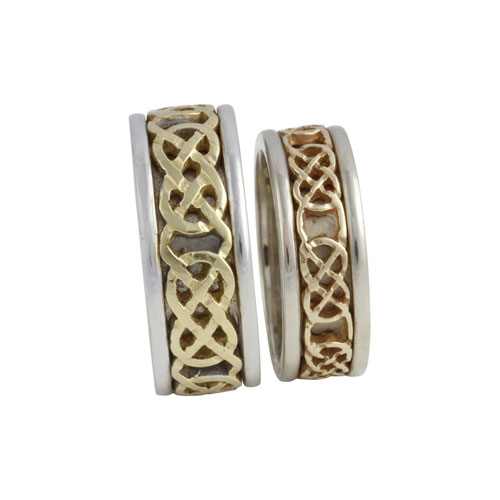 Kilkenny Celtic Knot Ring 14kt Gold Set