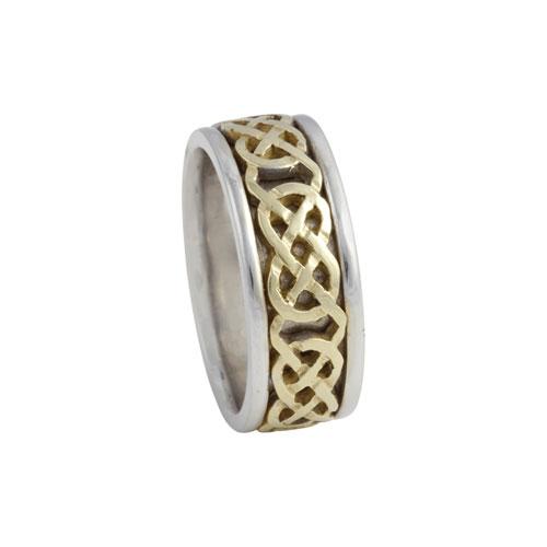 Kilkenny Celtic Knot Ring Large 14kt Gold KELKAR02L