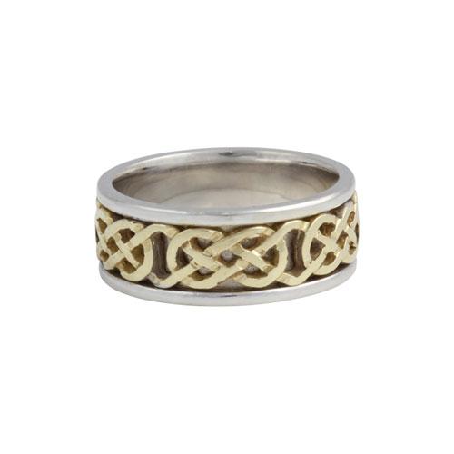 Kilkenny Celtic Knot Ring Large Flat KELKAR02L