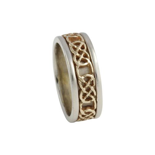 Kilkenny Celtic Knot Ring Small 14kt Gold KELKAR02S