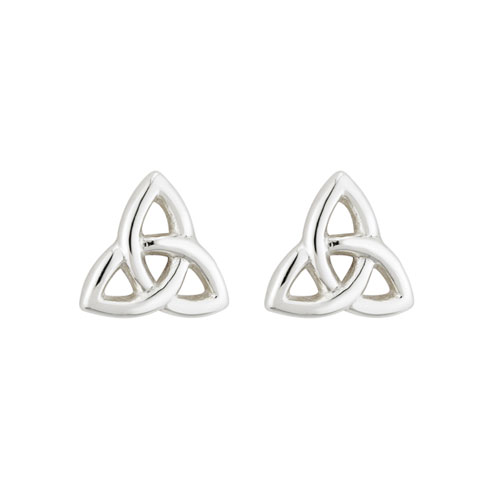 Tiny Trinity Knot Earrings Sterling Silver S3082