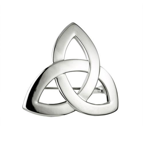Trinity Knot Brooch Rhodium Plated S1916