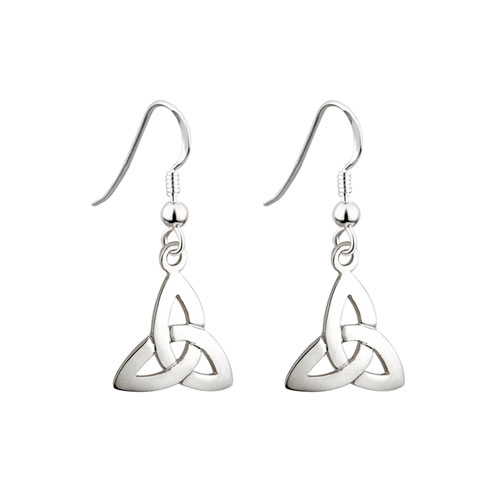 Trinity Knot Drop Earrings Sterling Silver S3645
