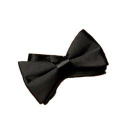 black-satin-bowtie