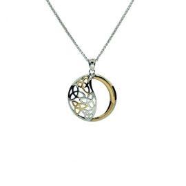 Celtic Trinity Knot Pendant SS 10kt Gold PPX8340