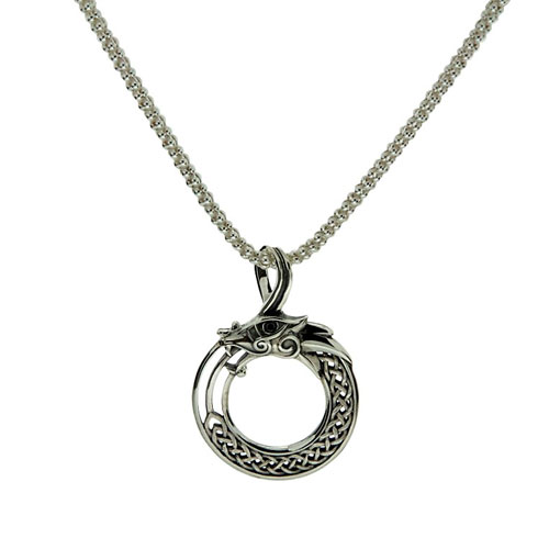 33bb594b9499b Dragon Pendant with Black Cubic Zirconia Sterling Silver – The ...