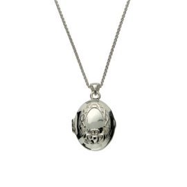 Claddagh Locket S/S 22kt Gilded Gold PLX3758